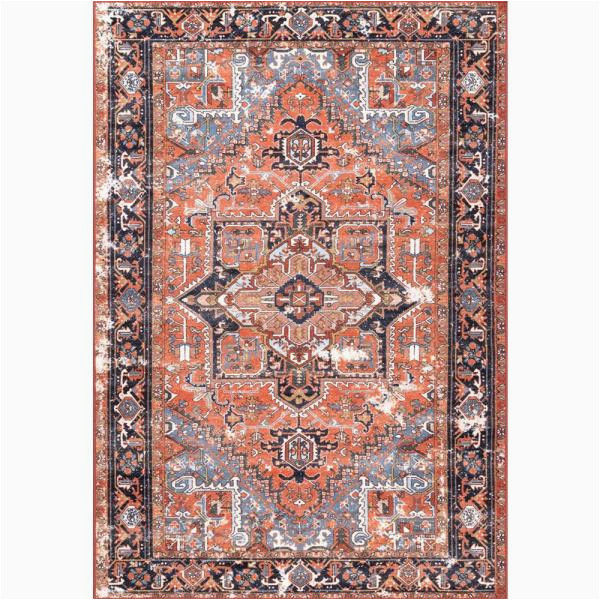 7 by 8 area Rugs Nuloom Sherita oriental Persian Rust 7 Ft X 8 Ft area