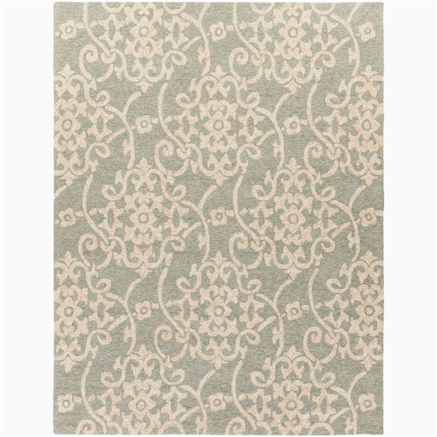 Sage Green and Beige area Rugs 12 X 15 Contemporary Style Sage Green and Beige