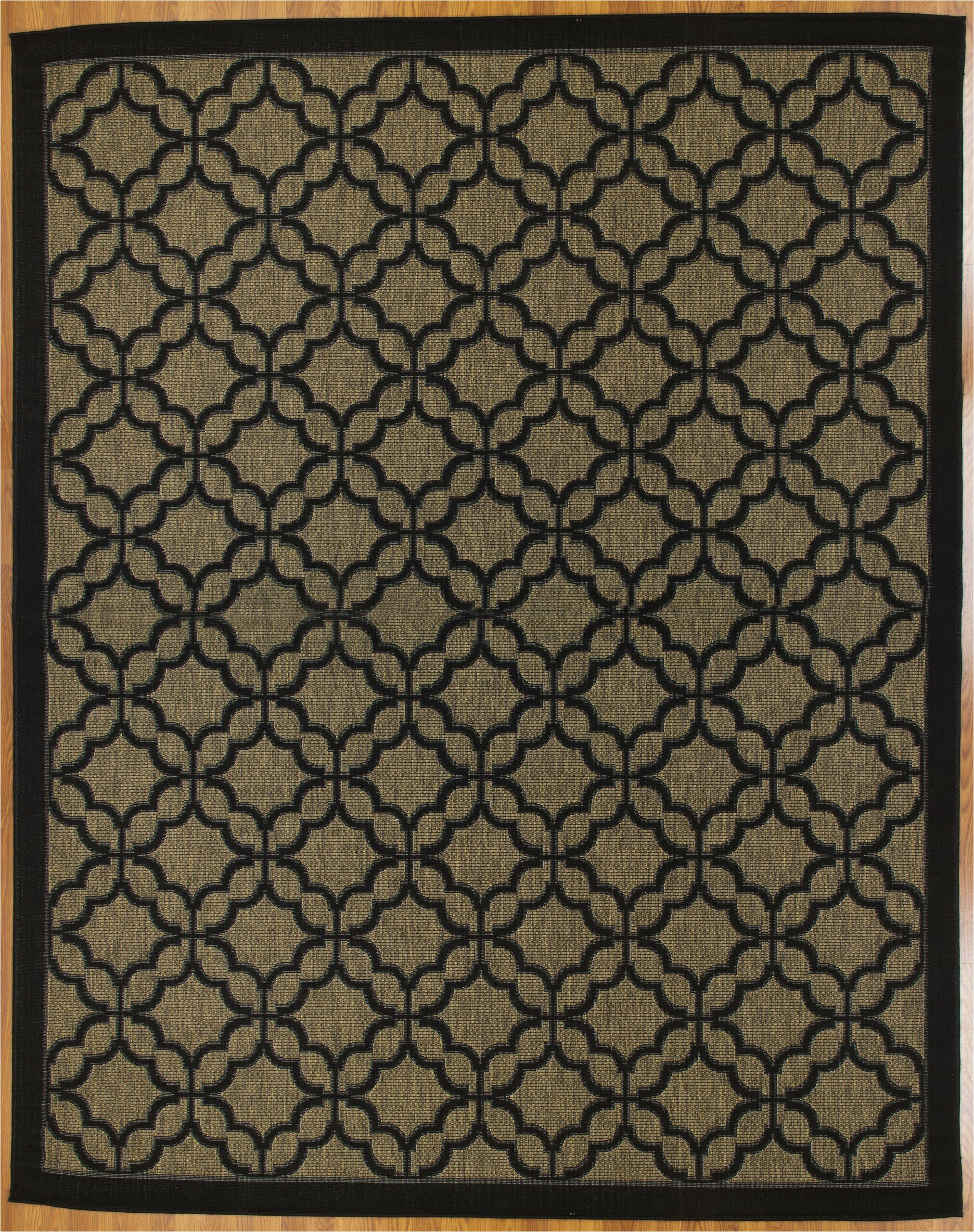canora grey tott and eling geometric 8 x 10 brownblack indoor outdoor area rug w