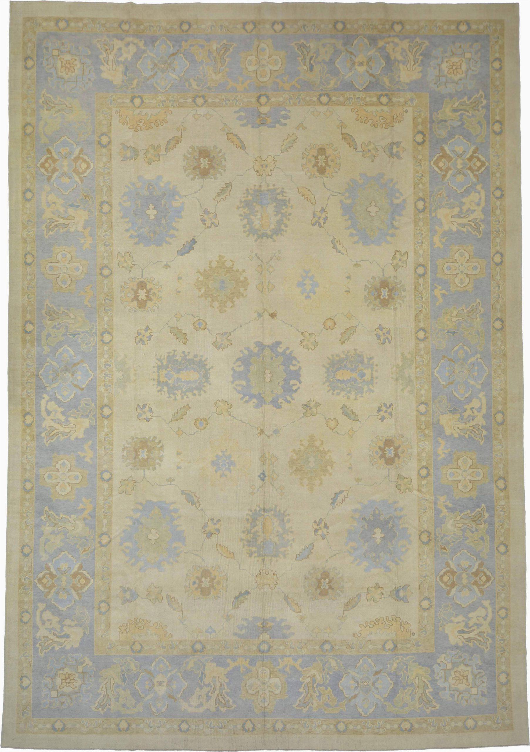 14x20 beige modern oushak area rug