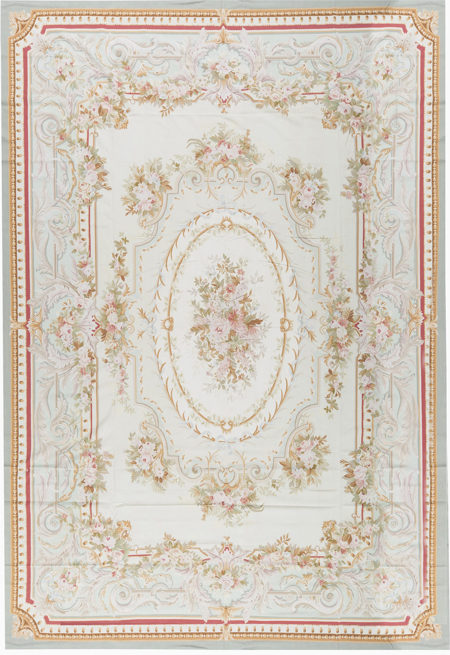 bokara rug co inc one of a kind aubusson renaissance hand knotted beige 14 x 201 wool area rug abhd6358