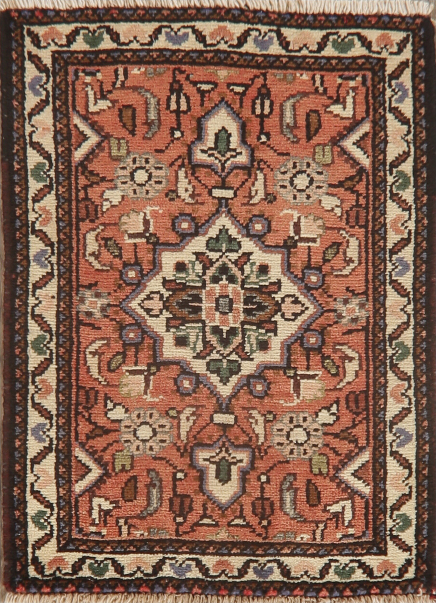 world menagerie one of a kind yacoubou oriental hand knotted 18 x 24 wool red area rug w