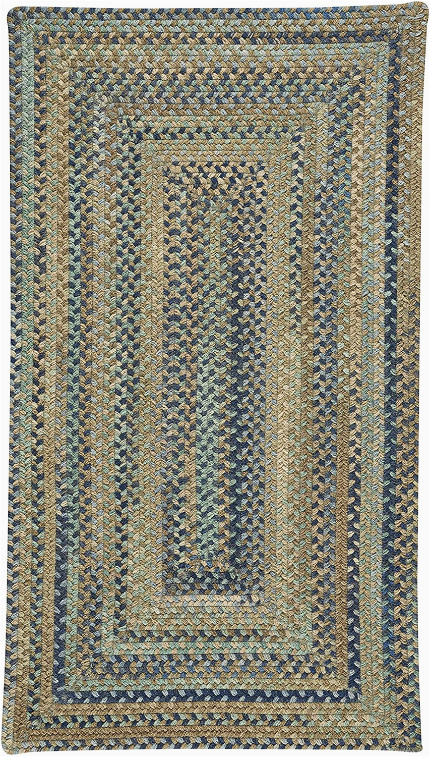 "20 X 30 area Rug Capel Rugs tooele Braided Concentric area Rug Green 20"" X"