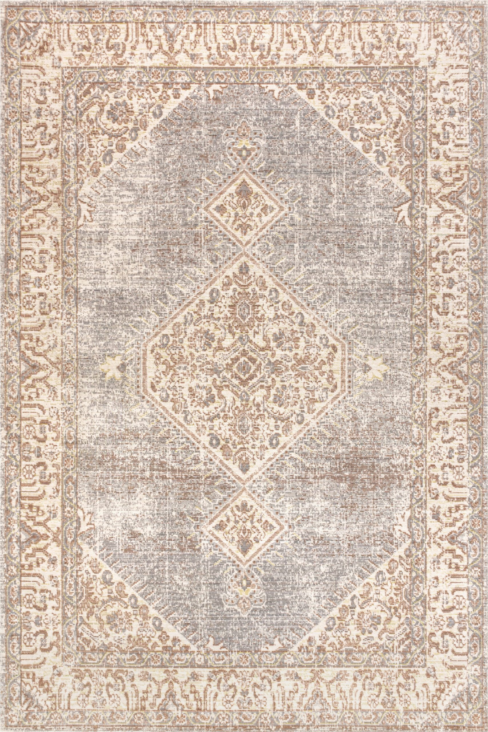 lila modern tribal medallion gray ivory 3 ft x 5 ft area rug