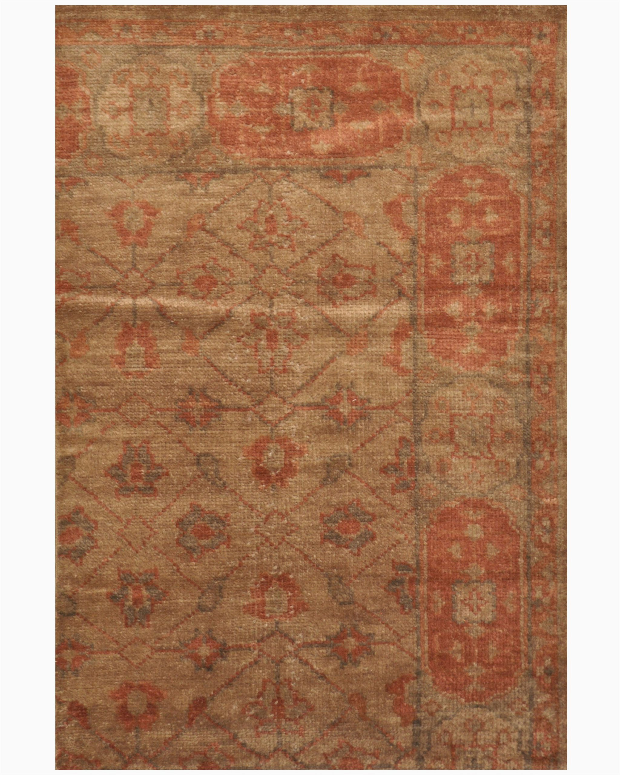 bungalow rose one of a kind wolter hand knotted 34 x 5 wool brown area rug w