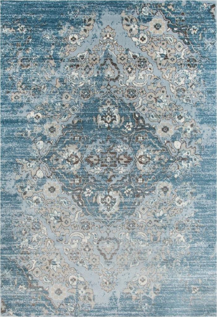 4620 distressed blue 710 x 106 area rug carpet large new
