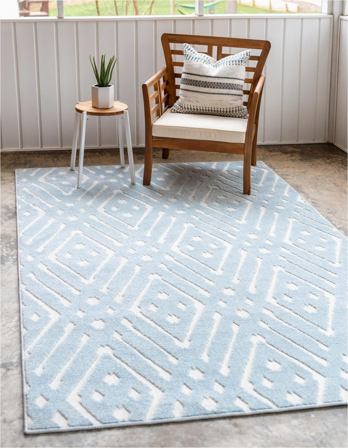 light blue 4x6 sabrina soto outdoor area rug