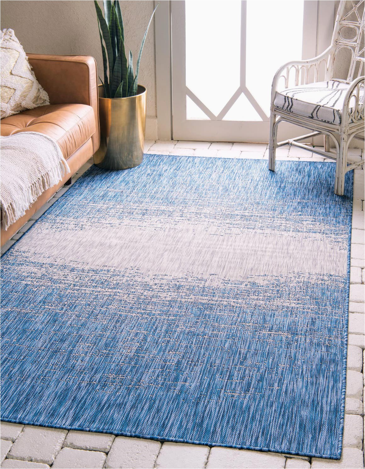 blue 4x6 outdoor modern area rug