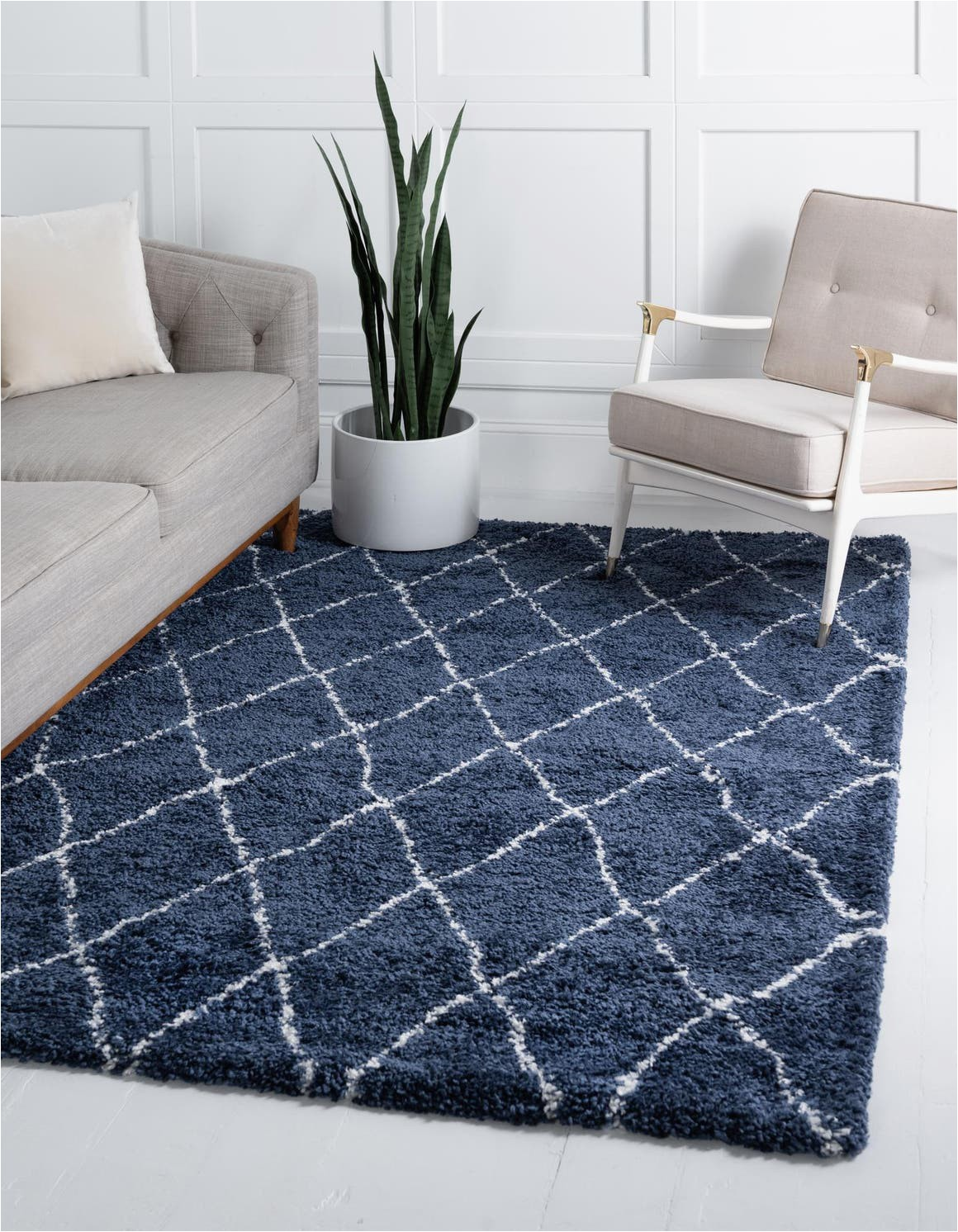 navy blue 4x6 marrakesh shag area rug