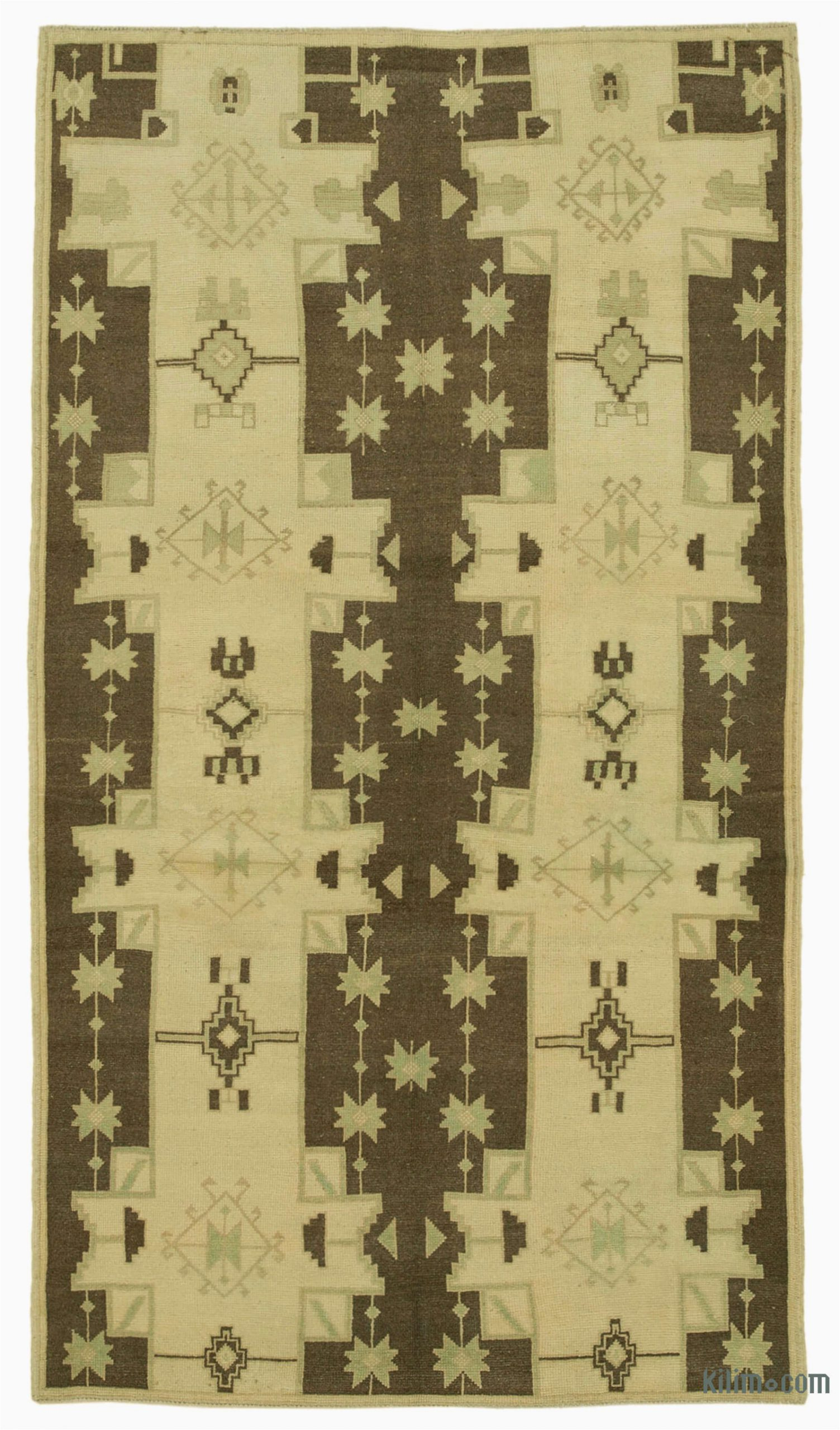"5 7 area Rugs Under 50 Beige Brown All Wool Hand Knotted Vintage area Rug 4 2"" X 7 5"" 50 In X 89 In"