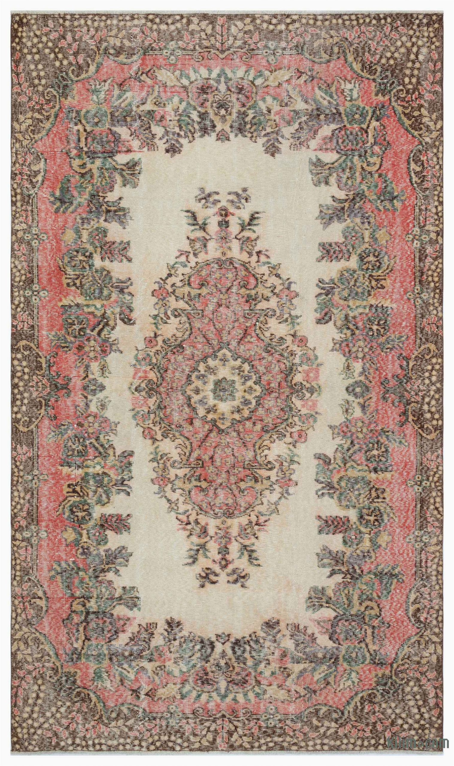 """5 by 9 area Rugs Turkish Vintage area Rug 5 9"""" X 9 8"""" 69 In X 116 In"""