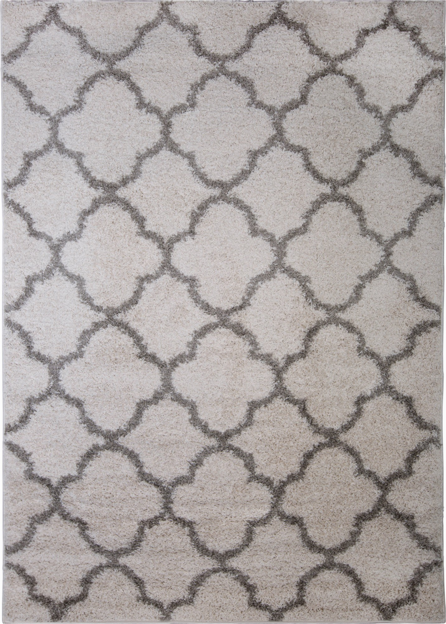 "5×7 Gray and White area Rug Details About Nicole Miller Designer 5×7 Shag Rug White Gray Trellis Actual 5 2"" X 7 2"""