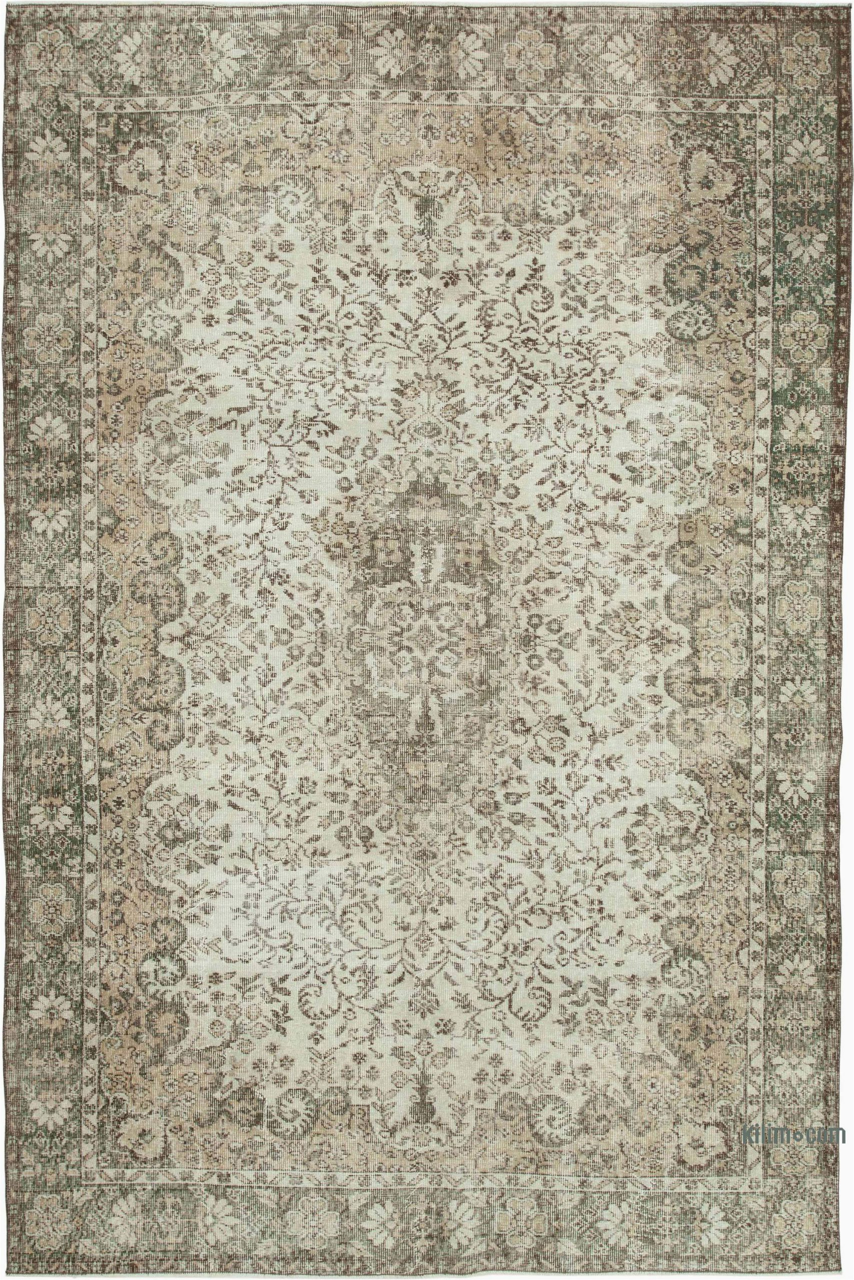 k vintage turkish hand knotted area rug