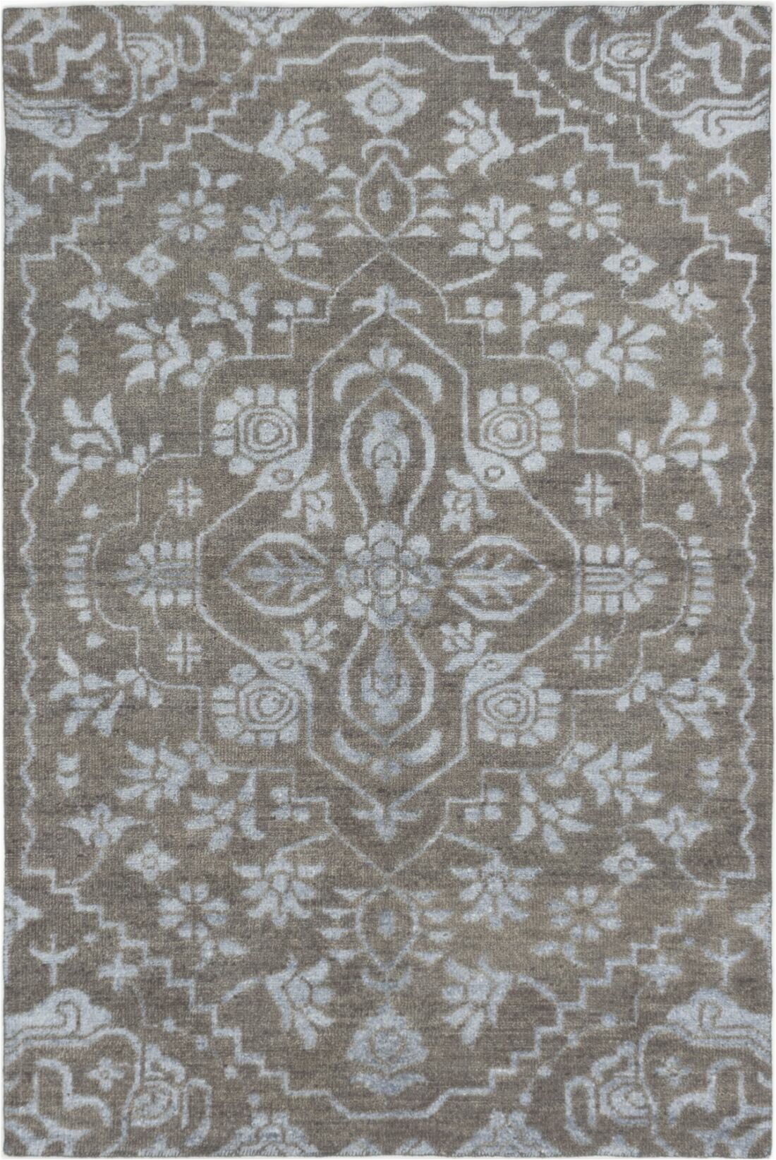 house of hampton one of a kind purnell hand knotted 2010s kazak dark gray 6 x 811 area rug w