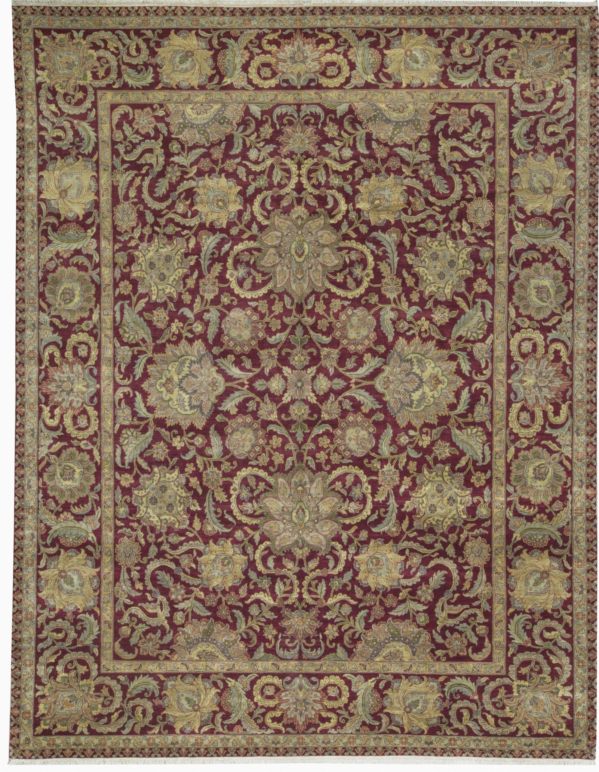 bokara rug co inc one of a kind crown hand knotted redbeige 12 x 157 wool area rug abhd2974