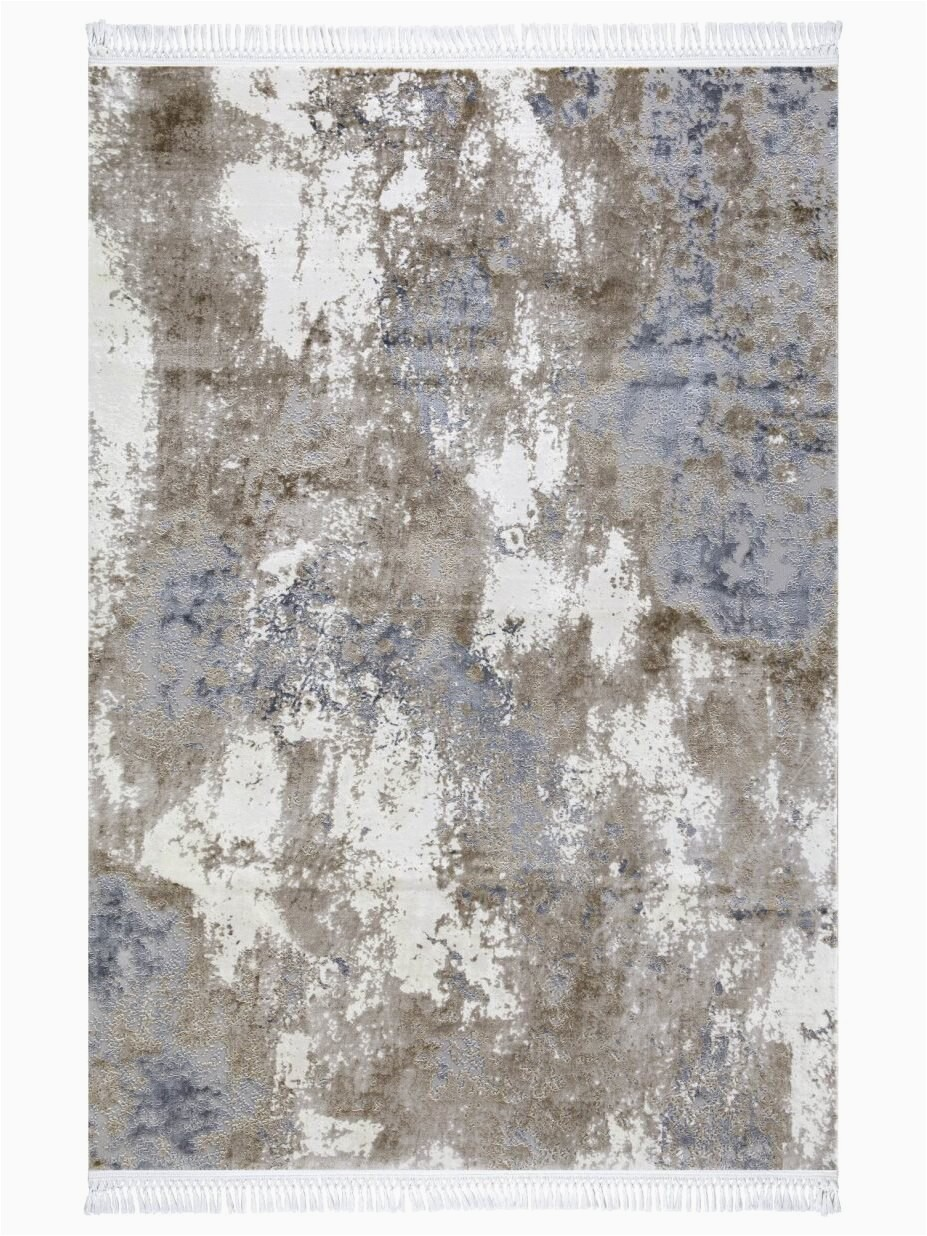 Quantity Surveying Lounge 7 x 10 Viscose Brown Blue Area Rug