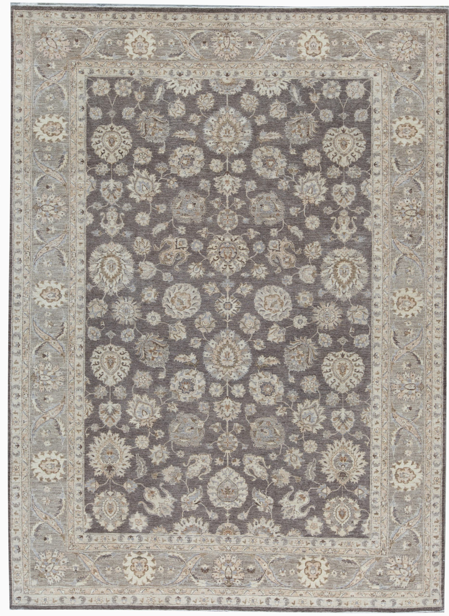 bokara rug co inc one of a kind ziegler hand knotted 98 x 133 wool gray area rug abhd5610