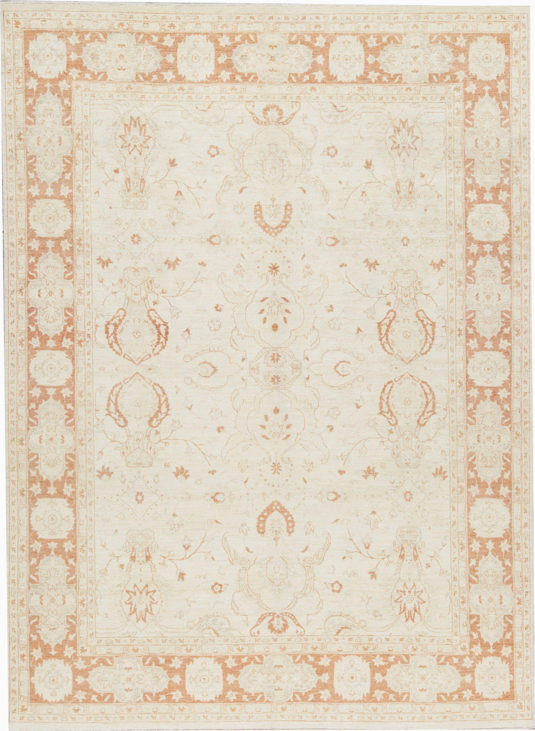 bokara rug co inc one of a kind hand knotted ivory 98 x 131 wool area rug abhd5751