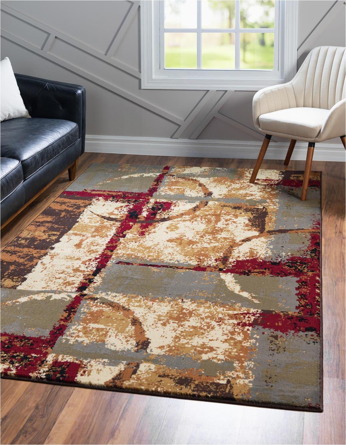 multi 8x10 coffee shop area rug