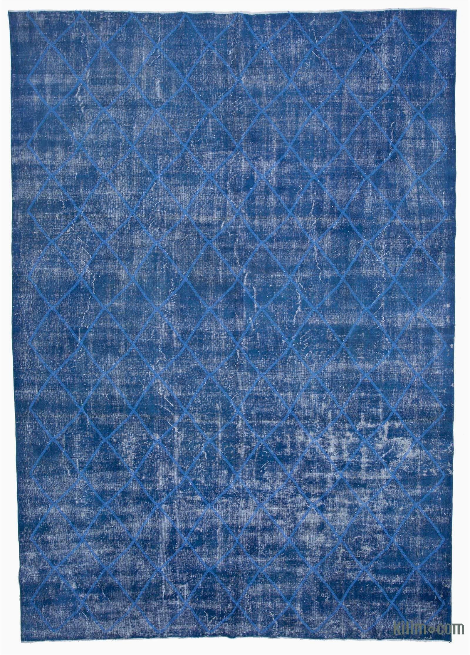 k embroidered over dyed turkish vintage rug