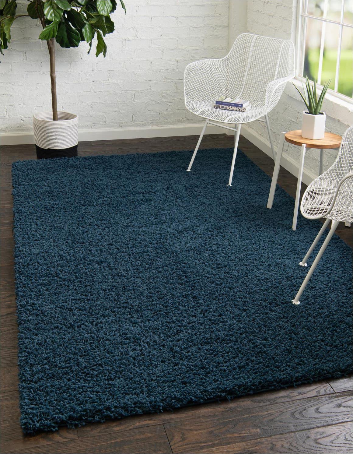 sapphire blue 9x12 solid shag area rug