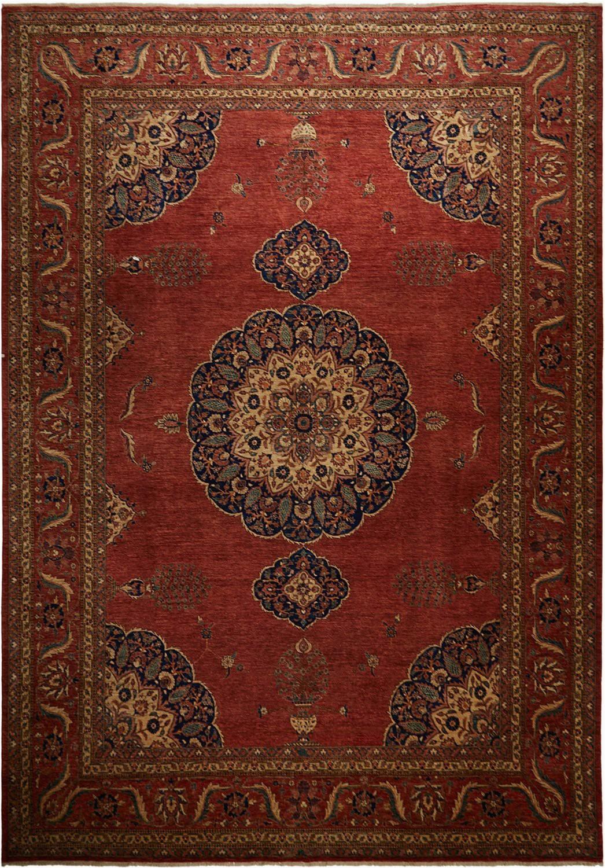 antique inspired ahar fine area rug 9 8 x 13 9
