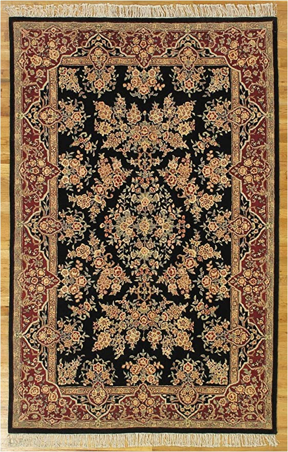 Amazon 5 by 8 area Rugs Amazon Kazvin Design High Ennd Hand Tufted Black Sarouk