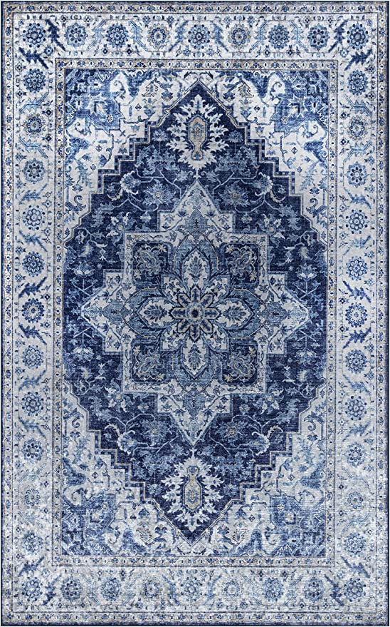 Amazon 5 by 8 area Rugs Momeni Karachi Blue area Rug 5 X 8