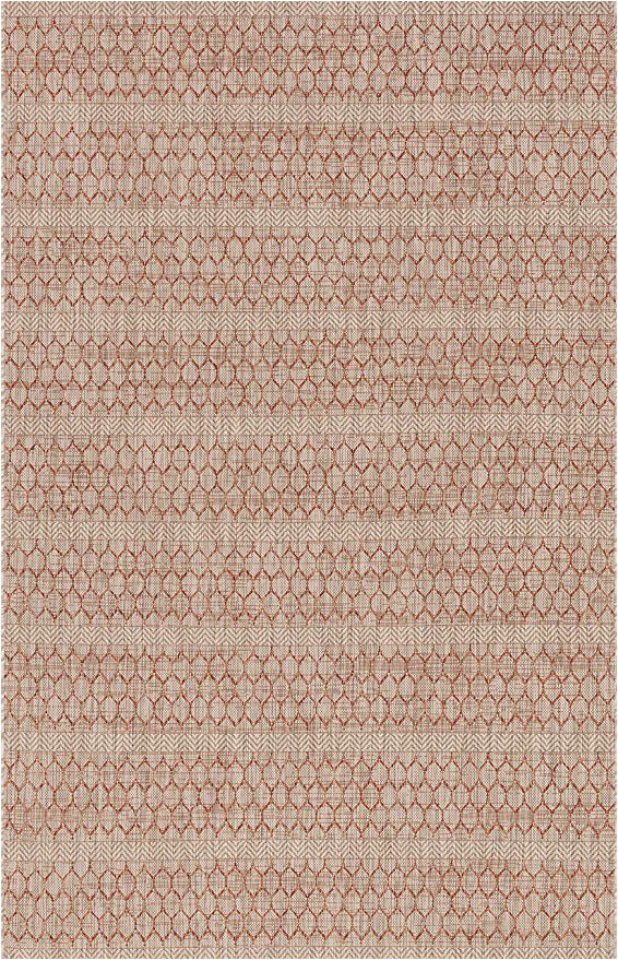 "Amazon Indoor Outdoor area Rugs Loloi isle Collection Indoor Outdoor area Rug 1 6"" X 1 6"" Sample Swatch Beige"