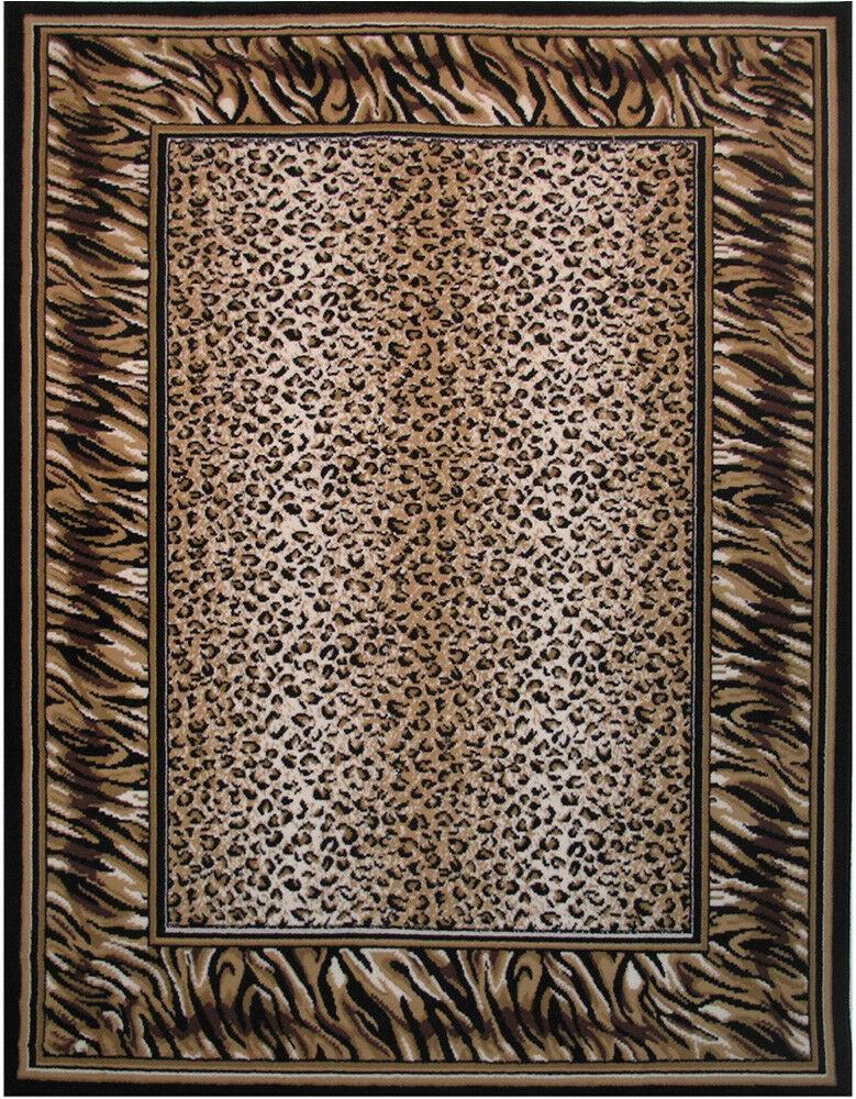 """Animal Print area Rug 5×7 5×7 La Rugs Black Animal Print Tiger area Rug 12 038 Black Aprx 5 3"""" X 7"""