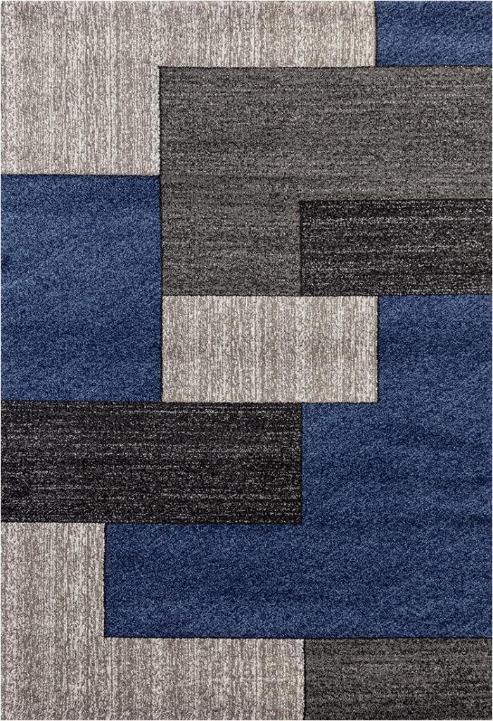 persian rugs 3322 dark blue modern abstract area rug