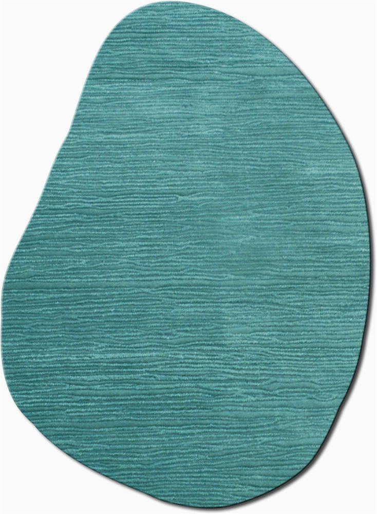 Area Rug for Odd Shaped Room Flagstone Turquoise Rug