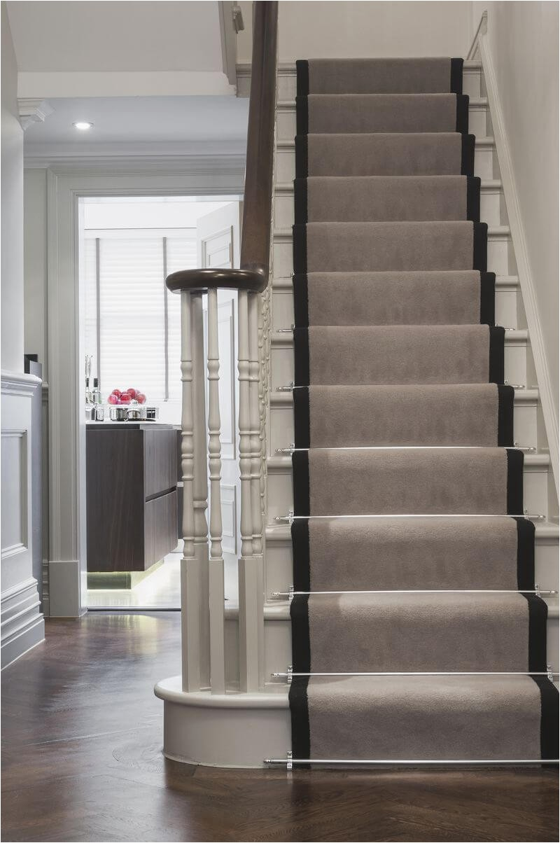 Area Rug for Stair Landing Stairs & Landing Carpet Des Kelly Interiors where