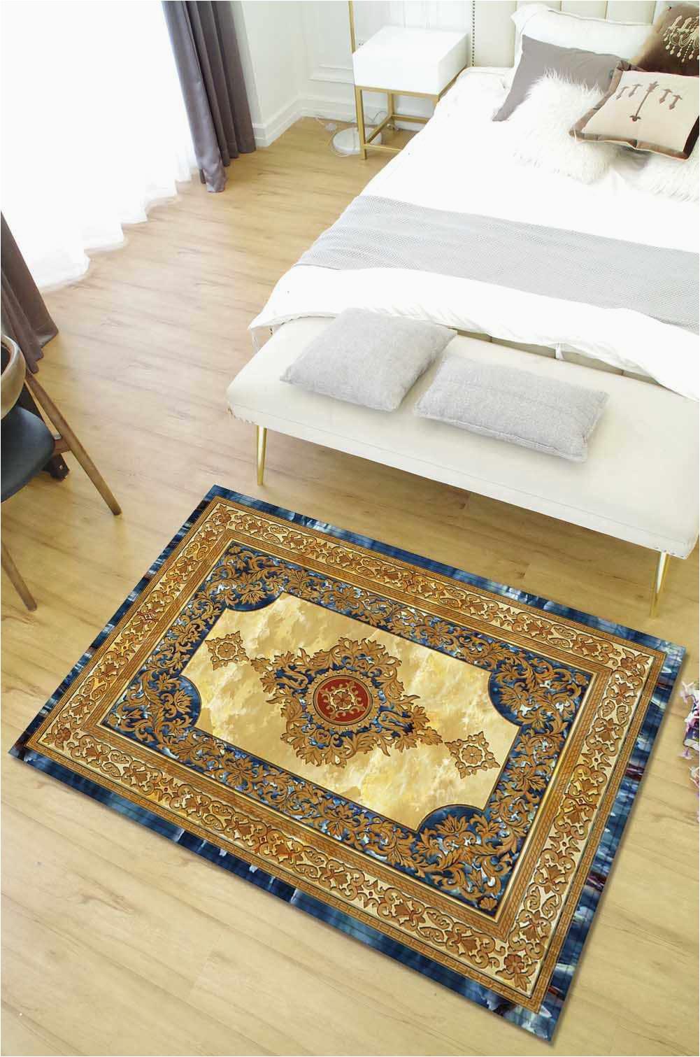 Zeegle European Living Room Carpet Anti slip Floor Mats Bedroom Bed Blanket Carpet Sofa Table Area q50