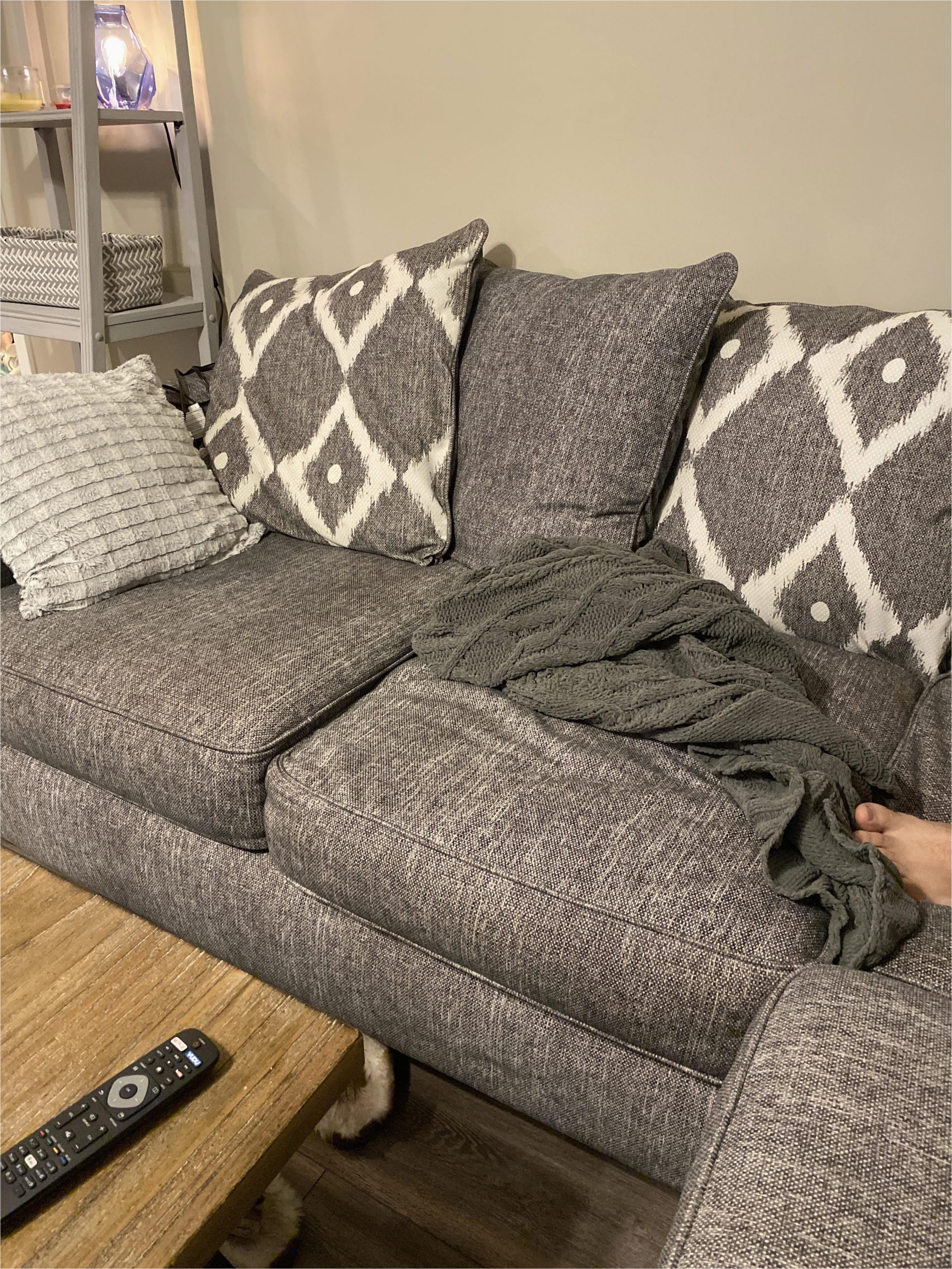 what color area rug will make my grey couch look