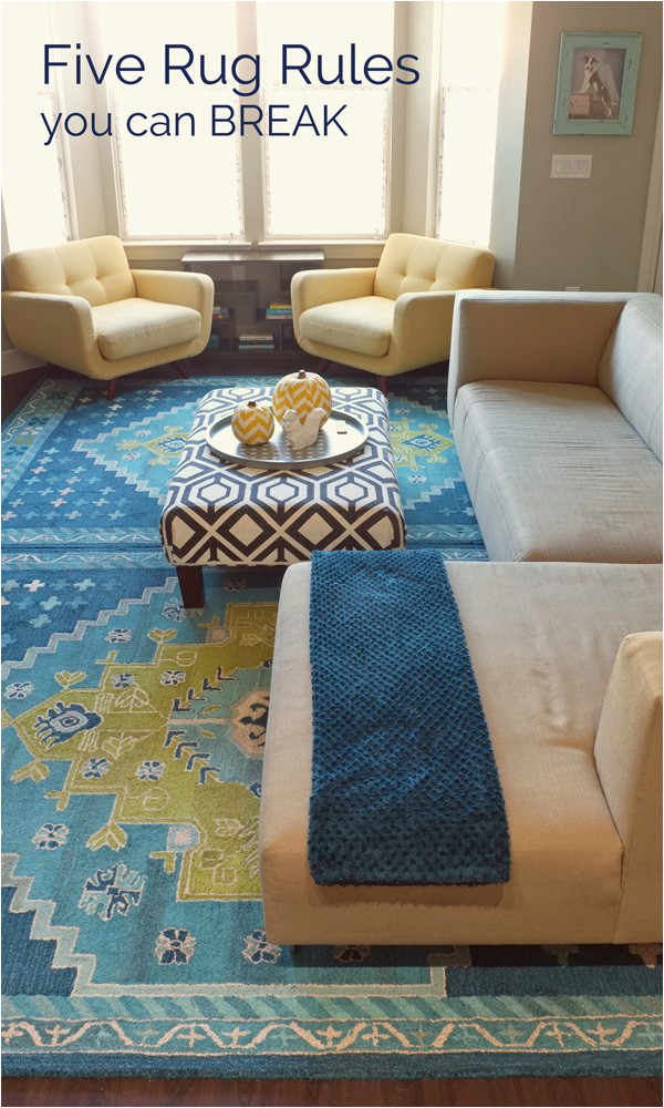 five rug rules you can break