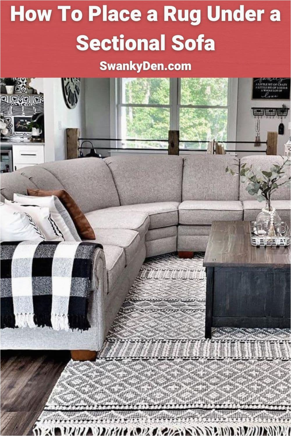 Area Rug with Chaise sofa How to Place A Rug Under A Sectional sofa Swankyden