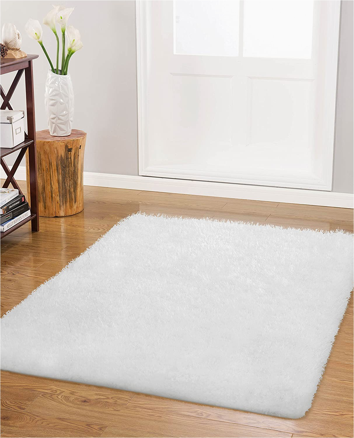 "Area Rugs 30 X 45 Vista Living Claudia 27"" X 45"" Accent Rug White 27 In X 45"