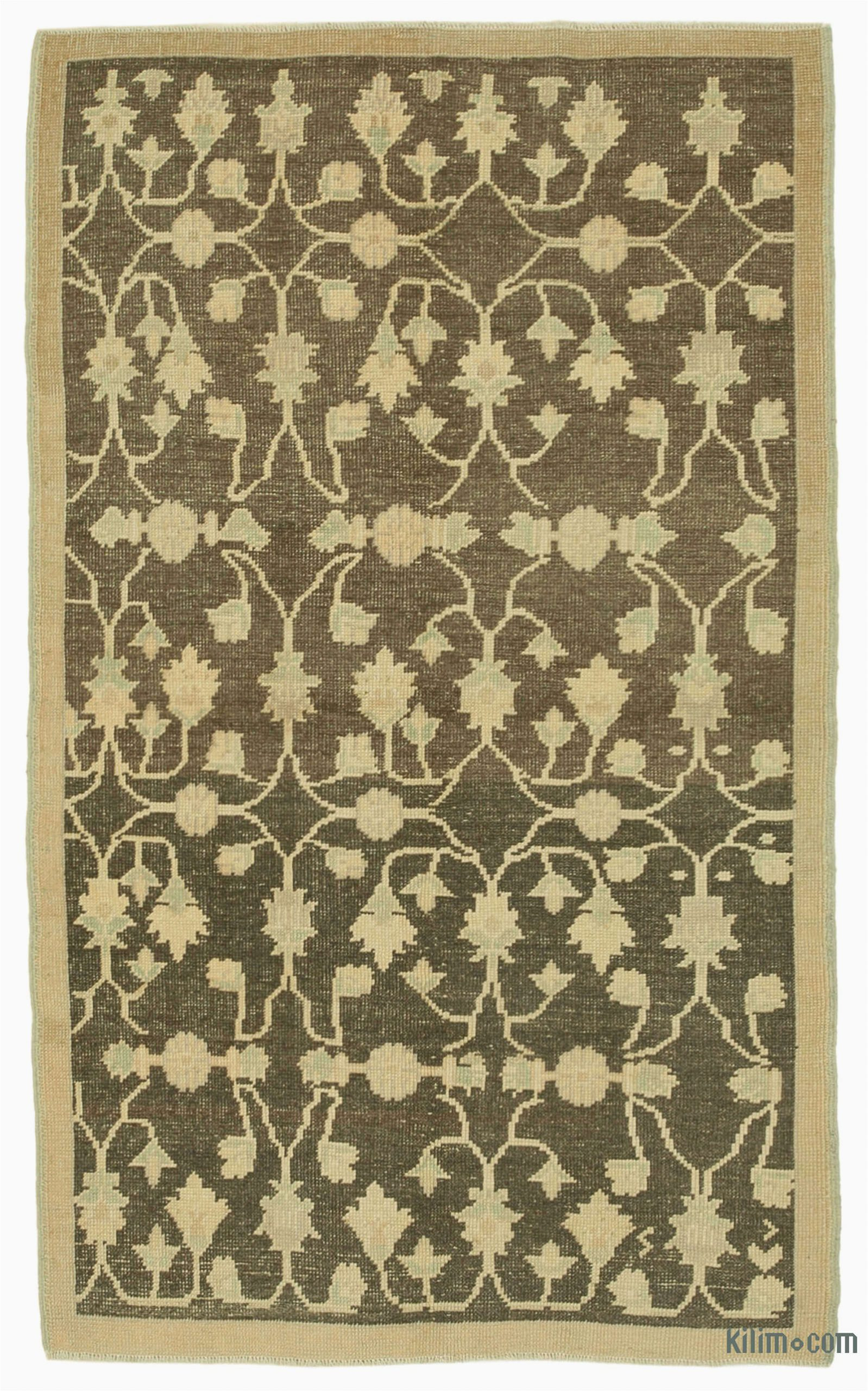 """Area Rugs Beige and Brown Beige Brown All Wool Hand Knotted Vintage area Rug 3 11"""" X 6 4"""" 47 In X 76 In"""