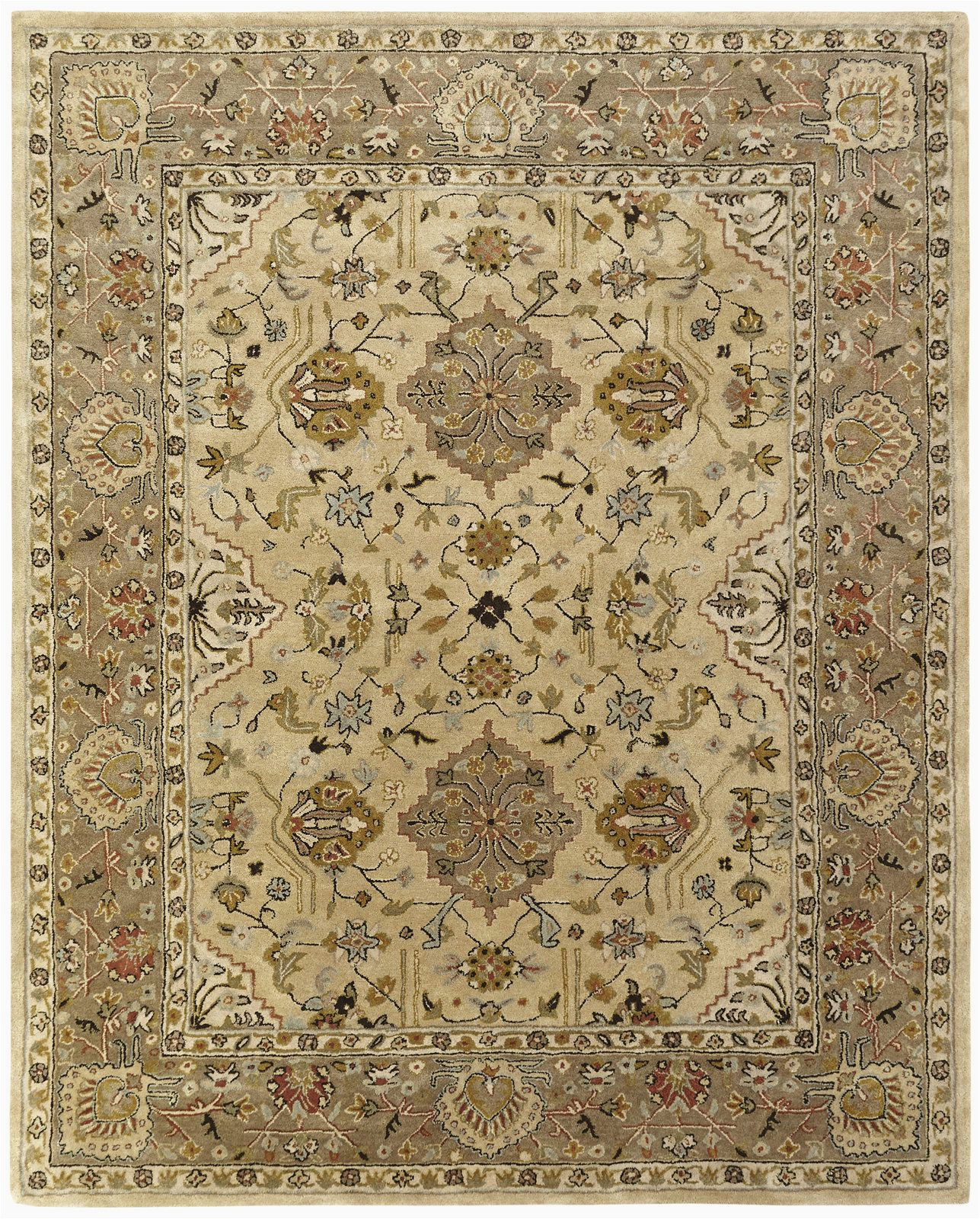 Area Rugs Beige and Brown Boase Hand Tufted Wool Beige Brown area Rug