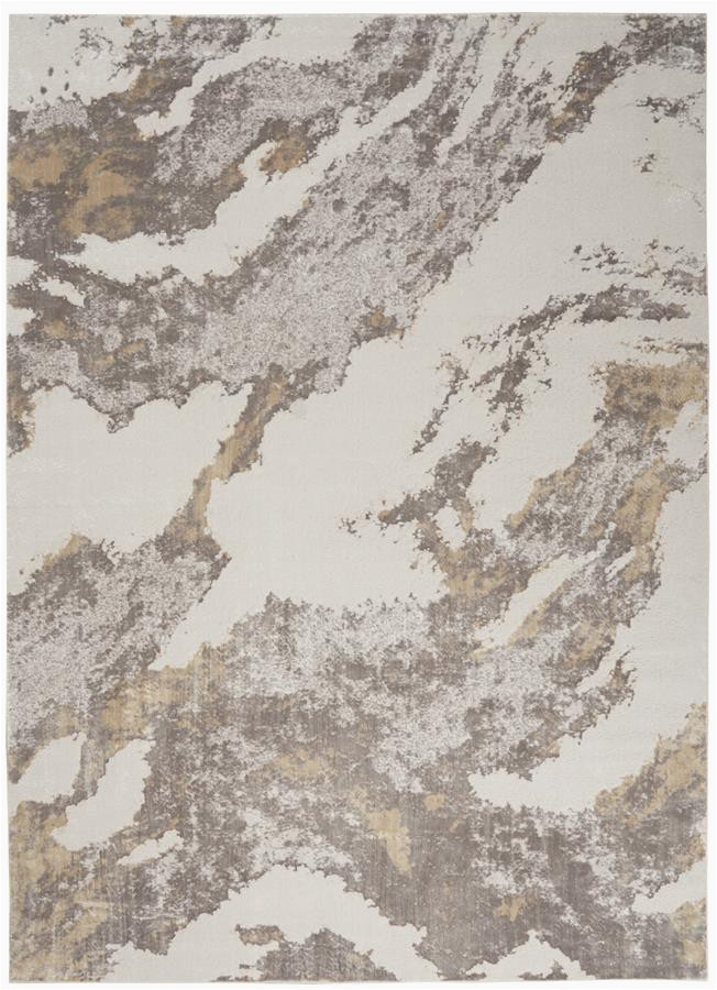 Area Rugs Beige and Brown Nourison Silky Textures Sly03 Brown Ivory area Rug