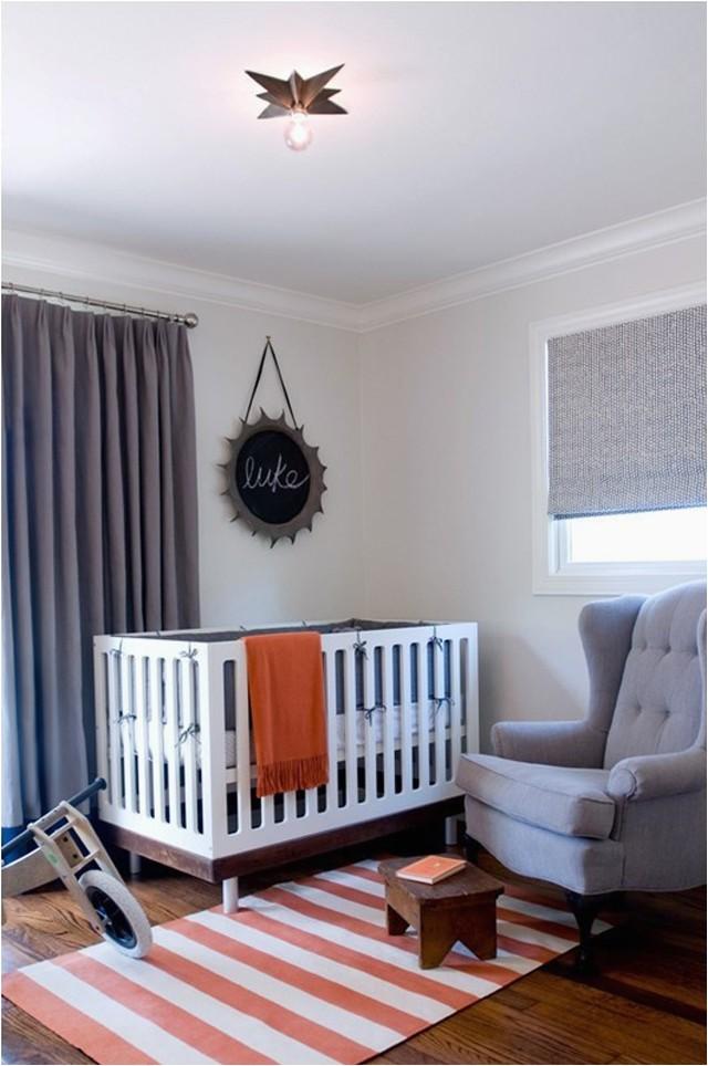 Nursery stripe rug
