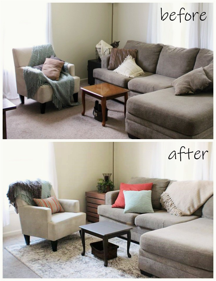 Area Rugs for Dark Floors Clever Decorating with area Rugs before and after