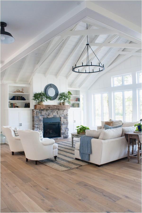 white lake house living room 19