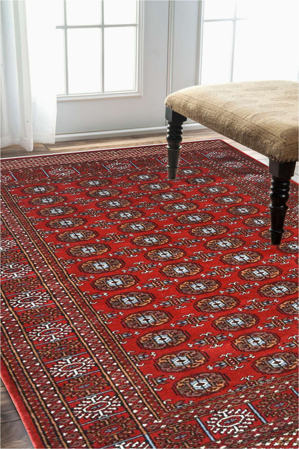 Area Rugs Made In India Indian Bukhara Afghan area Rug
