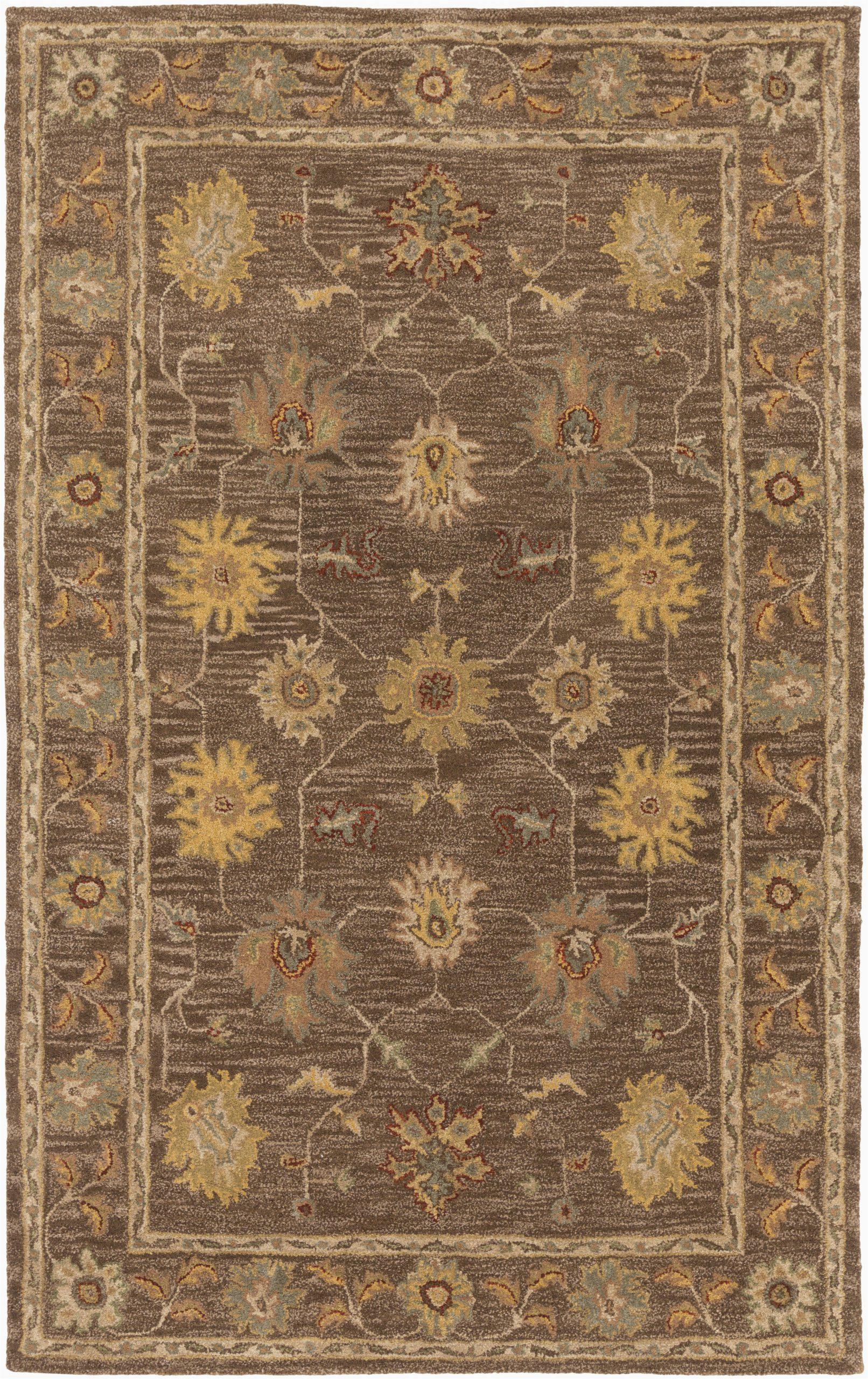 plemmons oriental handmade tufted wool dark browncamel area rug