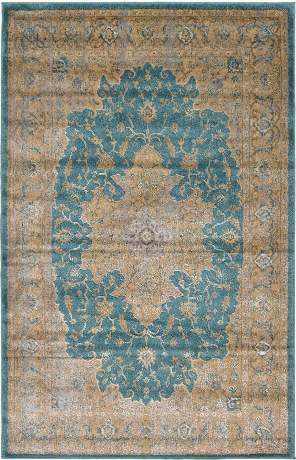 Area Rugs Teal and Brown Mumford oriental Brown Teal area Rug