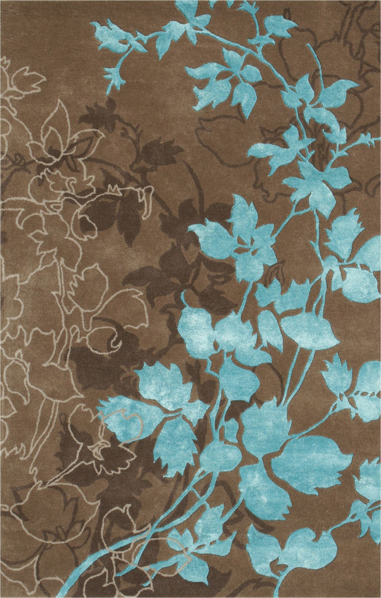 Area Rugs Teal and Brown Noble House Dahlia Brown & Turquoise area Rug