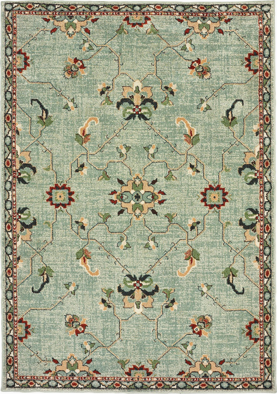 Area Rugs Teal and Brown oriental Weavers Dawson 8527a Teal Brown area Rug