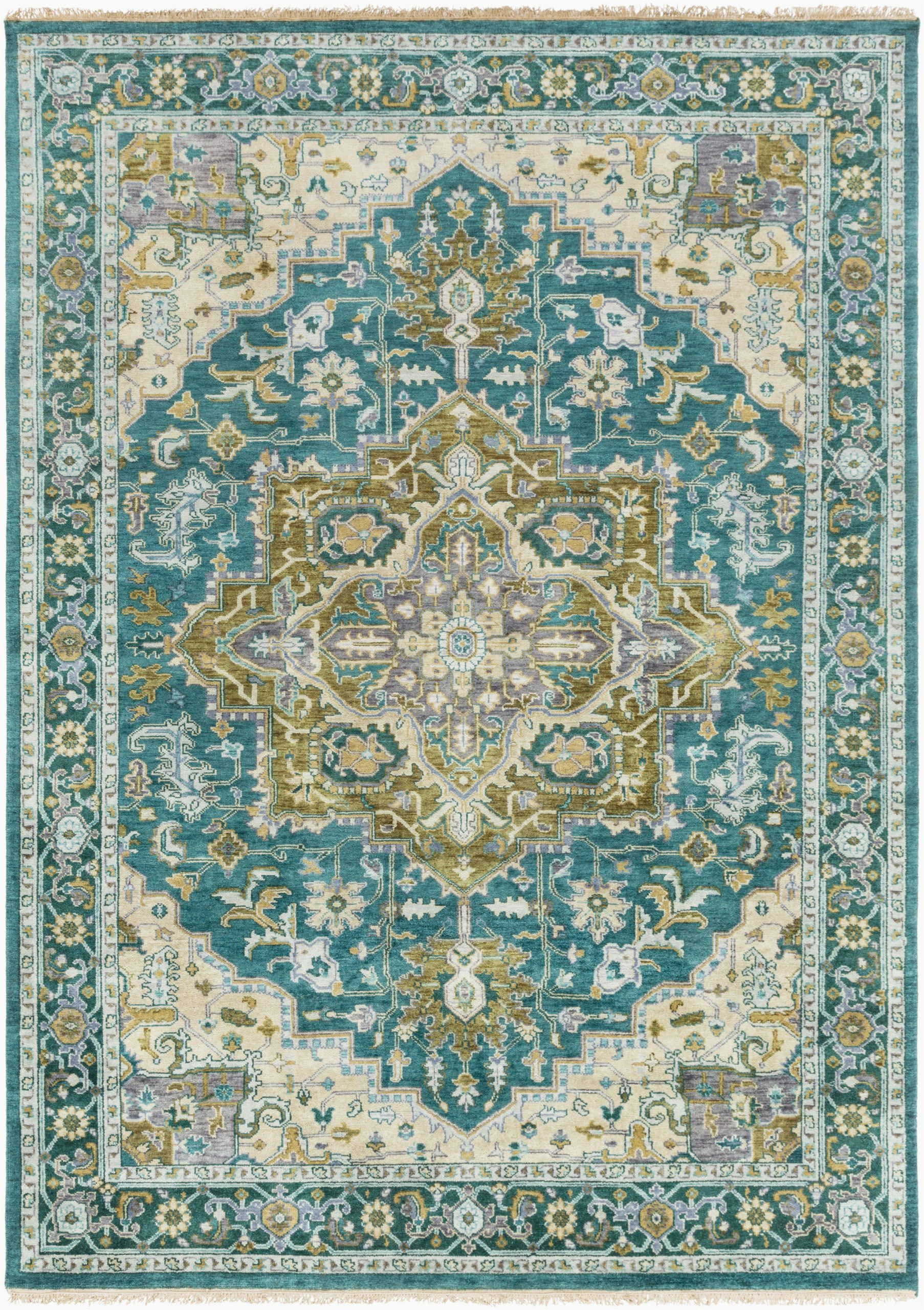 Area Rugs Teal and Brown Surya Zeus Zeu7822 Green Brown Classic area Rug In 2020